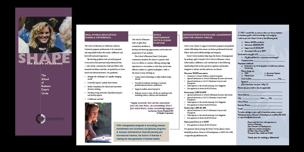 CLU School of Business brochure